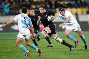 All Blacks captain Richie McCaw during the match against Argentina. Photo / Mark Mitchell