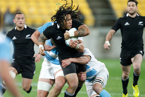 All Black Ma'a Nonu during the match against the Pumas. Photo / Mark Mitchell