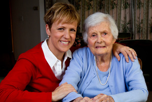 Newsreader Hilary Barry and her grandmother Bev Hill were thrilled to make a connection with Barry's great-grandparents via a buried time capsule.  Photo / Dean Purcell