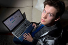 Reuben Simpson, 19, had his email login and PayPal details hacked, and posted on a website. Photo / Greg Bowker