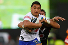 Josh Papali'i faces a big job against Rabbitohs monster Dave Taylor tomorrow. Photo / Getty Images