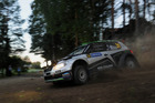 Hayden Paddon and John Kennard recorded a DNF at Finland's Neste Oil Rally. Photo / Honza Fronek