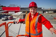 Fiona Shilton at The Warehouse store site. Photo / Greg Bowker