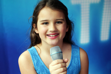 Holly Robertson auditioning for TV show New Zealand's Got Talent at Sylvia Park Shopping Centre yesterday. Photo / Doug Sherring