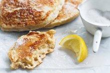 Ricotta pancakes with lemon and sugar. Photo / Chris Court