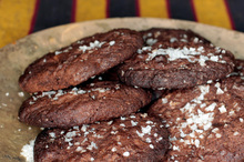 Chocolate biscuits with a salty twist. Photo / Michael Craig