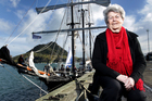 Sailing on the Spirit of NZ gave Margaret Mackay, 89, an idea of what her great-grandfather's arrival in this country must have been like. Photo / Alan Gibson