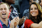 Britain's Prince William and Kate Duchess of Cambridge at the Paralympic Games in London. Photo / AP