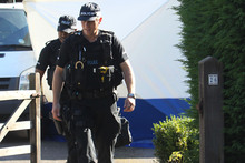 The home of Saad al-Hilli, in Claygate, England continues to be guarded by Surrey Police. Photo / AP