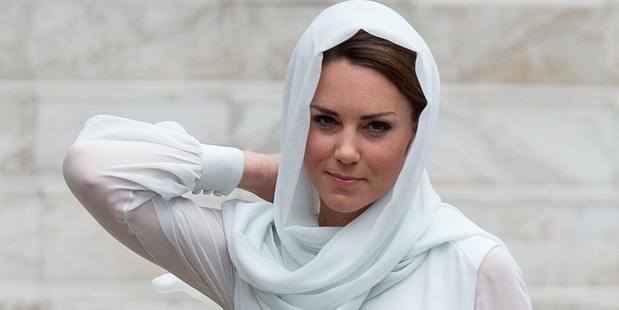 Kate, the Duchess of Cambridge visits a mosque in Kuala Lumpur, Malaysia. Photo / AP
