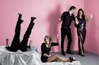 Sam Snedden (left), Sophie Henderson, Matt Whelan and Mia Blake deftly evoke the tensions between hedonistic excess and pompous propriety. Photo / Supplied