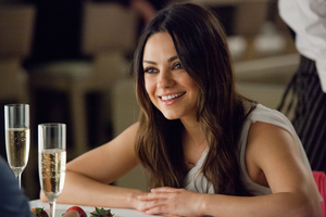 Mila Kunis was trapped in an elevator with 10 people for almost an hour. Photo / Supplied