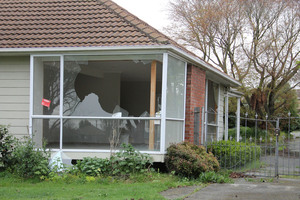 Abandoned properties in Christchurch have been a target for vandals and thieves. Photo / Geoff Sloan