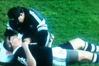 Kiwi Dean Lonergan is treated on the field after being knocked out against Australia. Photo / Supplied