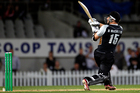 Black Caps player Nathan McCullum in action during the Twenty20 Cricket match between New Zealand and South Africa earlier this year. Photo / Dean Purcel