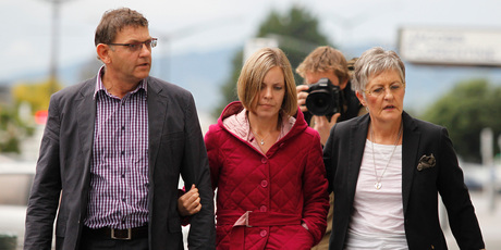 The grieving family of murdered Scott Guy. Photo / Mark Mitchell