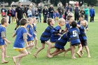 A year on from the Rugby World Cup, there has been a 6 per cent increase in children aged under 12 taking to the field. Photo / Bay of Plenty Times