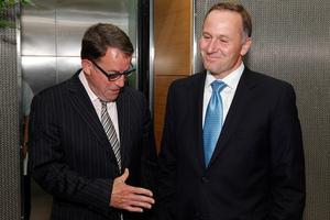 Act MP John Banks and Prime Minister John Key. Photo / Mark Mitchell