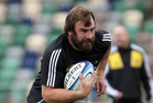 All Black Andrew Hore will be in the No 2 jersey against South Africa tonight. Photo / APN