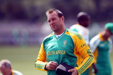 Jacques Kallis guided South Africa to a seven-wicket win over World Twenty20 champions England at Chester-le-Street on Saturday. Photo / Paul Taylor