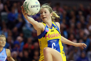 Camilla Lees admits international netball will take another big step up. Photo / NZPA