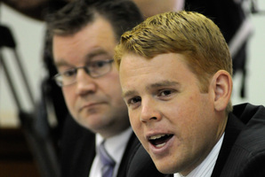 Labour's State Services spokesman Chris Hipkins, right.  File photo / NZPA