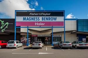 This large unit (above) in The Hub, is occupied by Magness Benrow; Unit C at 491 Pakuranga Road, Highland Park will be sold in a mortgagee sale.