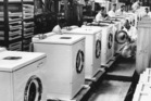 F&P washing machines rolling off the assembly line in 1960. Photo / NZ Herald