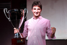 Mitch Evans basks in the glow of winning his maiden European championship. Photo / LAT Photographic