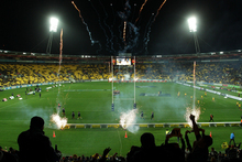 Wellington will host the first AFL premiership match outside Australia when St Kilda Saints play the Sydney Swans at Westpac Stadium on Anzac Day next year. Photo / Getty Images.