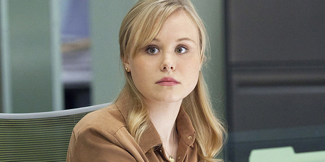 Alison Pill as she appears in character on The Newsroom. Photo / Supplied