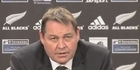Watch: All Blacks: Steve Hansen 'This is the beginning of something new'