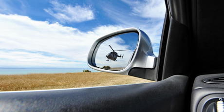 The helicopter 'chase' photo tweeted by Dotcom. Photo / Dotcom