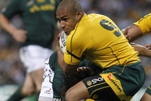 "When Wallabies skipper Will Genia (pictured) hobbled from Patersons Stadium in Perth on Saturday night with a blown out knee, David Pocock said to him, ""mate, let's not have a captain."" Photo / AP"