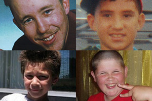 Huffing has claimed the lives of dozens in the past decade, including (clockwise from top left) Nicholas Baxter, Joe Stanley, Nathan Cunningham and Darius Claxton. Photos / supplied