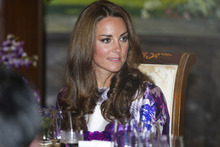 The Duchess of Cambridge during a recent visit to Singapore. Photo / Getty Images