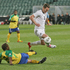 Chris Killen in possession during the All Whites' 6-1 win over Solomon Island. Photo / Greg Bowker