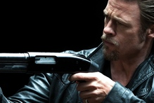Brad Pitt in the poster for his upcoming gangster movie Killing Them Softly.  Photo / Supplied
