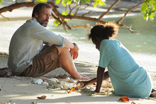 Mr Pip, starring Hugh Laurie, has received a standing ovation at the Toronto International Film Festival. Photo / Supplied