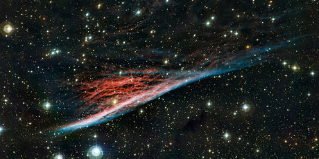 A new image of the Pencil Nebula - a.k.a NGC 2736 - has been captured by an observatory in Chile. Photo / La Scilla Observatory