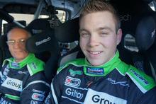 Hayden Paddon and John Kennard preparing for Wales Rally GB this week. Photo - NZWRT/Katie Lane.