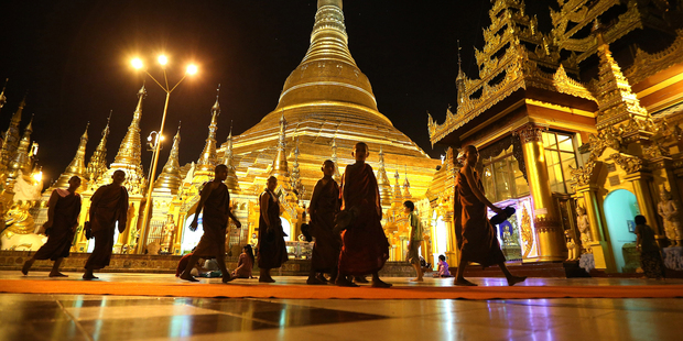 The Shwedagon Pagoda is a drawcard for international tourists in Myanmar. Photo / Getty Images
