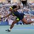 Serena Williams returns a shot to Victoria Azarenka. Photo / AP