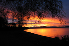 The sun sets over Lake Taupo. Photo / Turangi Chronicle