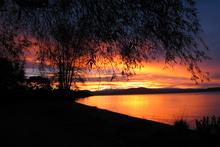 The sun sets over Lake Taupo. Photo / Turangi Chronicle