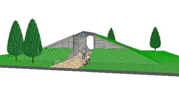 Mountain bikers will get to enjoy a new toilet block at the Waipa carpark, which will double as a jump ramp.