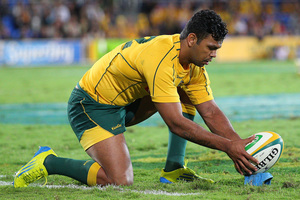 Kurtley Beale looms as a first-five starter with Quade Cooper's absence. Photo / Getty Images