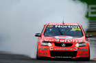 Craig Lowndes celebrates his Sandown 500 win. Photo / Getty Images