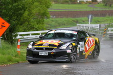 Tony Quinn and Naomi Tillet's Nissan GTR, Targa 2011. Photo / F