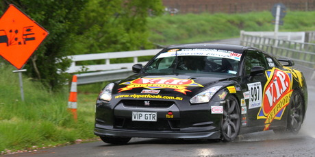 Tony Quinn and Naomi Tillet's Nissan GTR, Targa 2011. Photo / Fast Company/ GroundSky
